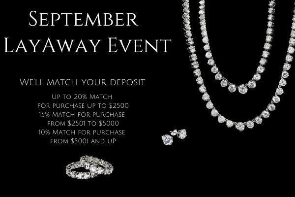 September Layaway Event