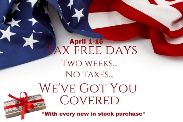 April 1-15 Two Weeks Tax Free